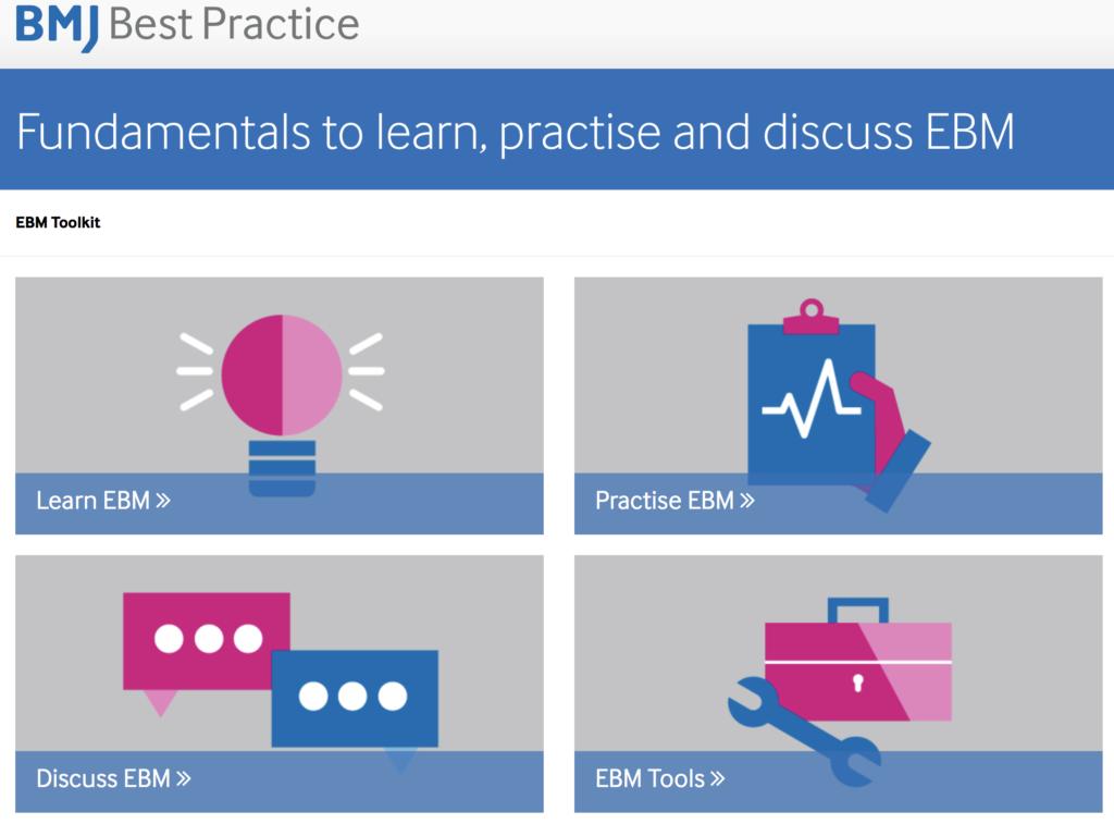 Evidence based medicine EBM toolkit image