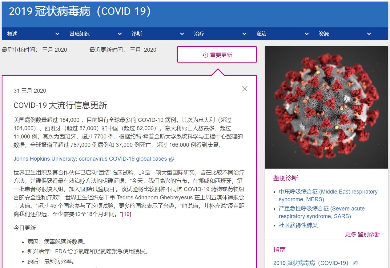 BMJ Best Practice 再度更新:COVID-19疾病专题