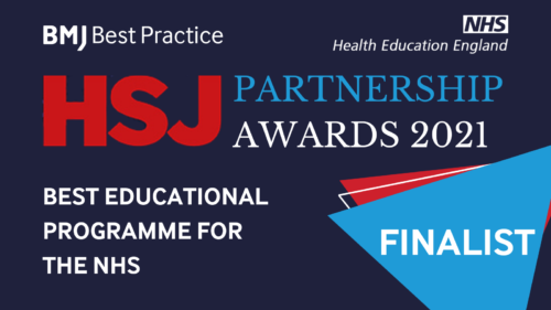 BMJ Best Practice & Health Education England shortlisted for the HSJ Partnership Awards 2021